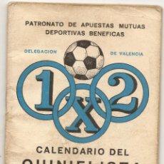 Coleccionismo deportivo: CALENDARIO DEL QUINIELISTA. 1977-78. Lote 43018603