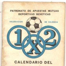 Coleccionismo deportivo: CALENDARIO DEL QUINIELISTA. 1976-77. Lote 43018607
