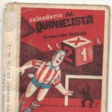 Coleccionismo deportivo: CALENDARIO DEL QUINIELISTA. 1964-65. Lote 43018624