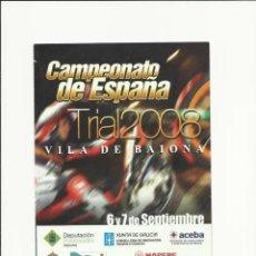 Coleccionismo deportivo: FOLLETO INFORMATIVO DEL CAMPEONATO DE ESPAÑA DE TRIAL 2008. Lote 43499522
