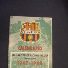 Coleccionismo deportivo: CALENDARIO CAMPEONATO NACIONAL DE LIGA 1947 1948 - OBSEQUIO C.F. BARCELONA - . Lote 43583146
