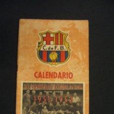 Coleccionismo deportivo: CALENDARIO CAMPEONATO NACIONAL DE LIGA 1951 1952 - OBSEQUIO C.F. BARCELONA -. Lote 43583980
