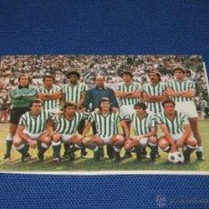 Coleccionismo deportivo: CALENDARIO DE DE PRIMERA DIVISION DE LA TEMPORADA 1980/81 - REAL BETIS - PUBLICIDAD BASCULAS MONTAÑ. Lote 43976974