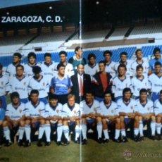 Coleccionismo deportivo: AGENDA CALENDARIO TEMPORADA 1988-89 HOJAS CENTRALES REAL ZARAGOZA FOTO CALVO PEDROS. Lote 44644277