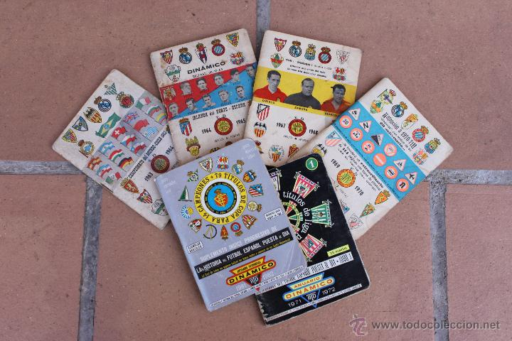 6 CALENDARIOS DINAMICO 1963-64 / 64-65 / 67-68 / 69-70 /71-72 / 81-82 CALENDARIO (Coleccionismo Deportivo - Documentos de Deportes - Calendarios)