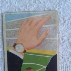 Coleccionismo deportivo: CALENDARIO DE LIGA 1957-58. 1ª DIVISION. PUBLICIDAD DE MARCA DE RELOJES TITAN. Lote 45445732