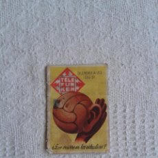 Coleccionismo deportivo: CALENDARIO DE LIGA 1956-57. PUBLICIDAD DE TELEFUNKEN. 1ª Y 2ª DIVISION. Lote 45445769