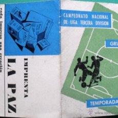 Coleccionismo deportivo: CALENDARIO DE FUTBOL TEMPORADA 1963/64 DE TERCERA DIVISION GRUPO XI ANDALUCIA. Lote 56285772