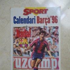 Coleccionismo deportivo: CALENDARIO BARÇA 1996. Lote 45880454