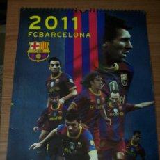 Coleccionismo deportivo: CALENDARIO F C BARCELONA 2011 (MEDIDAS: 30X40) COMPLETO. Lote 45994493