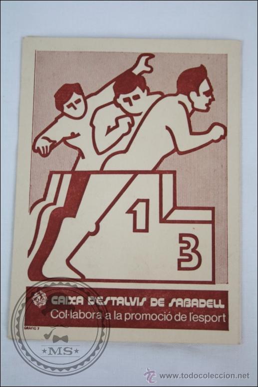 Coleccionismo deportivo: Calendario / Calendari Categoría Regional Preferent. Federació Catalana Fútbol, Temporada 1976-1977 - Foto 3 - 46343339