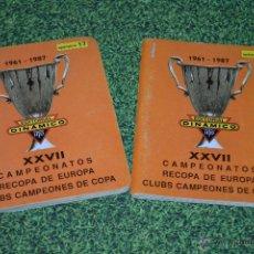 DINAMICO ESPECIAL CAMPEONATOS RECOPA DE EUROPA CLUBS CAMPEONES DE COPA