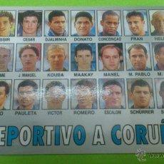 Coleccionismo deportivo: CALENDARIO DE BOLSILLO R.C.DEPORTIVO DE LA CORUÑA 2000. PLANTILLA TEMPORADA 1999-2000. CAMPEÓN LIGA. Lote 46656372