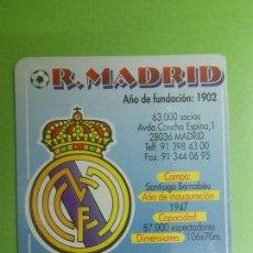 Coleccionismo deportivo: CALENDARIO DE BOLSILLO REAL MADRID 2002. Lote 46656400