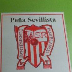 Coleccionismo deportivo: CALENDARIO DE BOLSILLO SEVILLA C.F. PEÑA SEVILLISTA SENTIMIENTO ROJIBLANCO. Lote 46656431