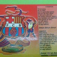Coleccionismo deportivo: CALENDARIO DE BOLSILLO F.C.BARCELONA 2004. HIMNO BARÇA.. Lote 46663882