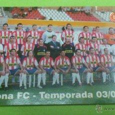 Coleccionismo deportivo: CALENDARIO DE BOLSILLO GIRONA 2004. PLANTILLA TEMPORADA 2003-2004 / 03-04. Lote 46663928