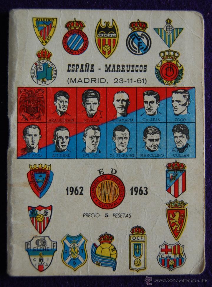 CALENDARIO CAMPEONATO FUTBOL. LIGA 1962-1963.ESPAÑA-MARRUECOS (MADRID 1961). PUBLICIDAD BEN-HUR (Coleccionismo Deportivo - Documentos de Deportes - Calendarios)