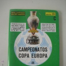 Dinámico apendice 16 c . Campeonatos , Copa Europa, Campeones liga, Temporada . Calendario