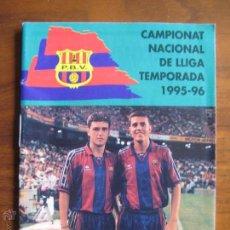 Coleccionismo deportivo: PENYA BARCELONISTA DEL VALLÉS - CALENDARIO LIGA 1995-96 OSCAR Y ROGER GARCÍA JUNYENT BARÇA. Lote 48208249