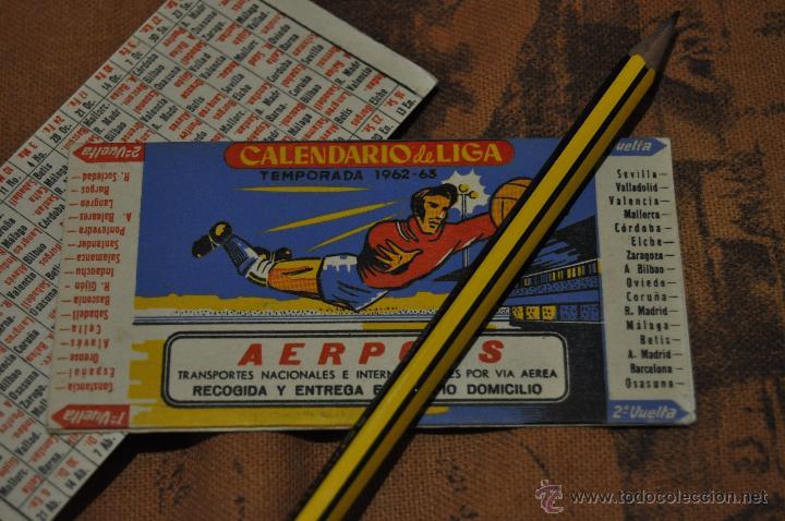 CALENDARIO TEMPORADA 1962 1963. FUTBOL (Coleccionismo Deportivo - Documentos de Deportes - Calendarios)