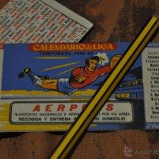 Coleccionismo deportivo: CALENDARIO TEMPORADA 1962 1963. FUTBOL. Lote 49194108