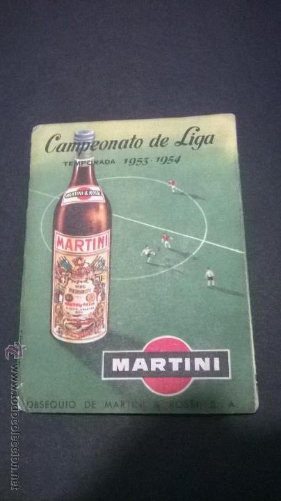 CAMPEONATO DE LIGA TEMPORADA 1953-1954 (MARTINI) (Coleccionismo Deportivo - Documentos de Deportes - Calendarios)