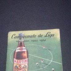 Coleccionismo deportivo: CAMPEONATO DE LIGA TEMPORADA 1953-1954 (MARTINI). Lote 49384913