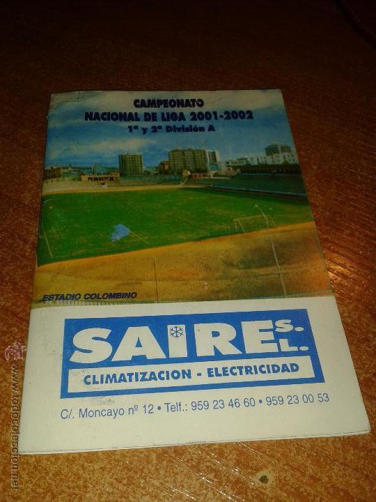 CALENDARIO CAMPEONATO NACIONAL DE LIGA 2001/02 (Coleccionismo Deportivo - Documentos de Deportes - Calendarios)
