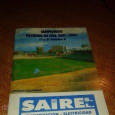 Coleccionismo deportivo: CALENDARIO CAMPEONATO NACIONAL DE LIGA 2001/02. Lote 49469986