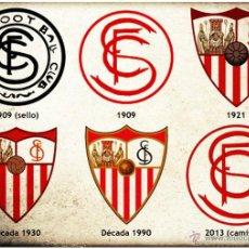 Coleccionismo deportivo: CALENDARIO DE BOLSILLO ESCUDOS SEVILLA 2015. Lote 142283492