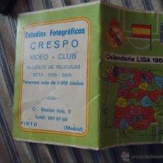 Coleccionismo deportivo: CALENDARIO DE LIGA 89 88 PRIMERA DIVISION, ESCUDO MADRID ESPAÑA ATLETICO .... Lote 49949230