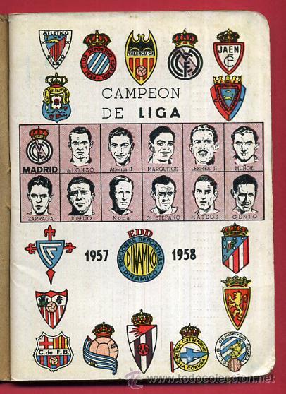 CALENDARIO LIGA FUTBOL , DINAMICO , TEMPORADA 1957 1958 , ORIGINAL , G6 (Coleccionismo Deportivo - Documentos de Deportes - Calendarios)