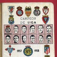Coleccionismo deportivo: CALENDARIO LIGA FUTBOL , DINAMICO , TEMPORADA 1957 1958 , ORIGINAL , G6. Lote 49980409