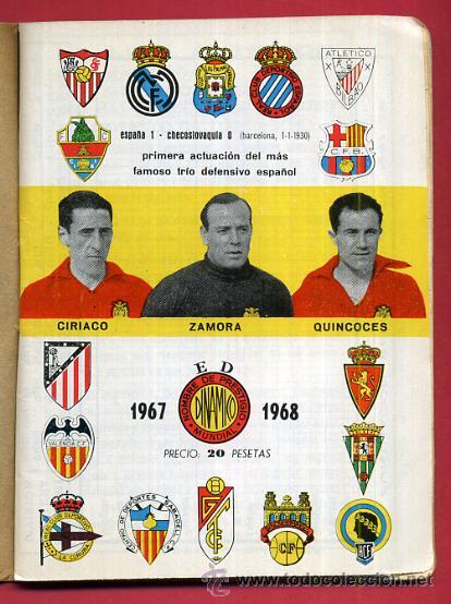 CALENDARIO LIGA FUTBOL , DINAMICO , TEMPORADA 1967 1968 , ORIGINAL , G10 (Coleccionismo Deportivo - Documentos de Deportes - Calendarios)
