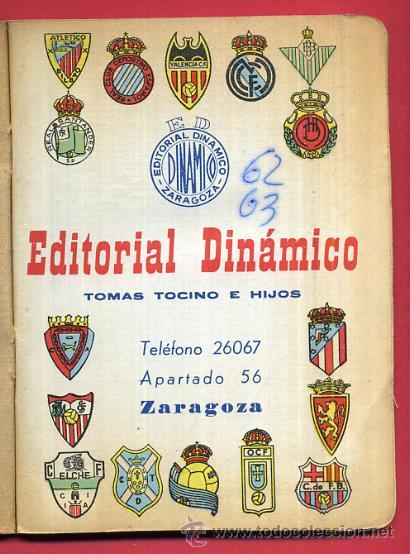 CALENDARIO LIGA FUTBOL , DINAMICO , TEMPORADA 1962 1963 , ORIGINAL , G14 (Coleccionismo Deportivo - Documentos de Deportes - Calendarios)