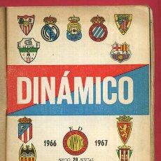 Coleccionismo deportivo: CALENDARIO LIGA FUTBOL , DINAMICO , TEMPORADA 1966 1967 , ORIGINAL , G18. Lote 49981242