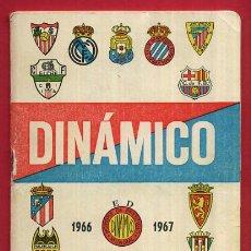 Coleccionismo deportivo: CALENDARIO LIGA FUTBOL , DINAMICO , TEMPORADA 1966 1967 , ORIGINAL , G22. Lote 49981493