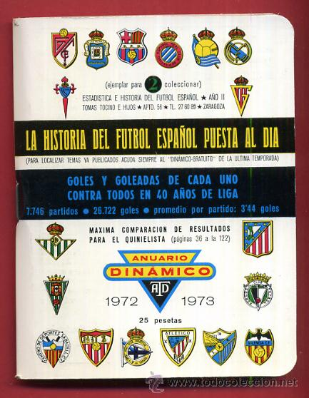 CALENDARIO LIGA FUTBOL , DINAMICO , TEMPORADA 1972 1973 , ORIGINAL , G25 (Coleccionismo Deportivo - Documentos de Deportes - Calendarios)