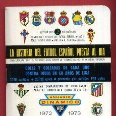 Coleccionismo deportivo: CALENDARIO LIGA FUTBOL , DINAMICO , TEMPORADA 1972 1973 , ORIGINAL , G25. Lote 52567987