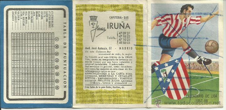 Coleccionismo deportivo: Calendario de Liga Fútbol 1957-1958 *genuino* - Foto 3 - 50154409
