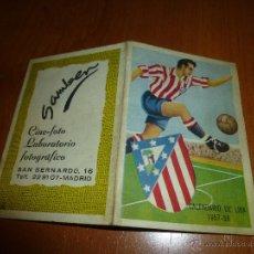 Coleccionismo deportivo: CALENDARIO DE LIGA 1957 - 58, ATLETICO DE MADRID, DESPLEGABLE. Lote 50257389
