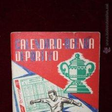 Coleccionismo deportivo: CALENDARIO-AGENDA DEPORTIVO DE LA TEMPORADA 1960-1961. Lote 50435290