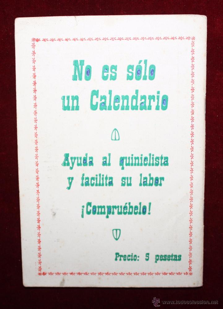 Coleccionismo deportivo: CALENDARIO-AGENDA DEPORTIVO DE LA TEMPORADA 1960-1961 - Foto 4 - 50435290