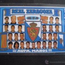 Coleccionismo deportivo: CALENDARIO FUTBOL REAL ZARAGOZA 1998. Lote 50519199