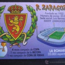 Coleccionismo deportivo: CALENDARIO FUTBOL REAL ZARAGOZA 2000. Lote 50519248