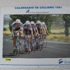Coleccionismo deportivo: CALENDARIO DE CICLISMO BANESTO 1991. Lote 51047708