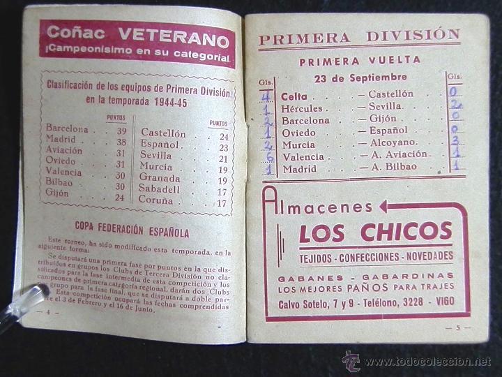 Coleccionismo deportivo: CALENDARIO LIGA DE FUTBOL 1945-46 - Foto 2 - 51062793