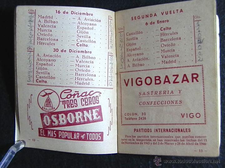 Coleccionismo deportivo: CALENDARIO LIGA DE FUTBOL 1945-46 - Foto 3 - 51062793