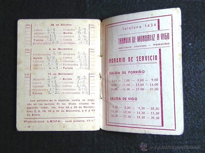 Coleccionismo deportivo: CALENDARIO LIGA DE FUTBOL 1945-46 - Foto 4 - 51062793